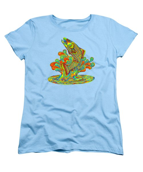 Rainbow Trout Women's T-Shirt (Standard Cut) by Rebecca Wang