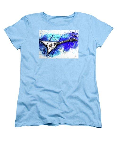 Randy's Guitar On Blue II Women's T-Shirt (Standard Cut) by Gary Bodnar