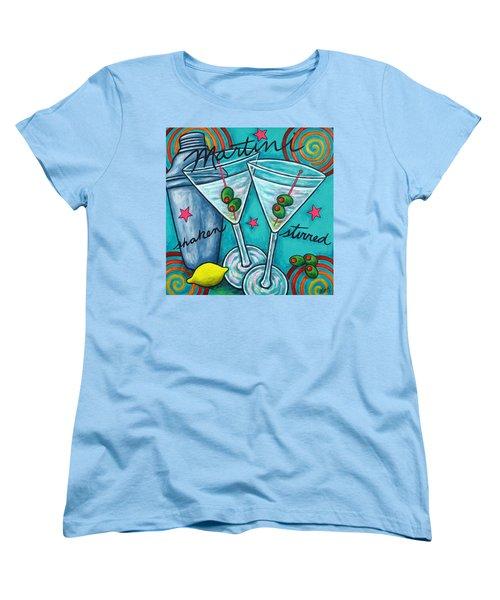 Retro Martini Women's T-Shirt (Standard Cut) by Lisa  Lorenz