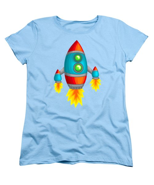 Retro Rocket Women's T-Shirt (Standard Cut) by Brian Kemper