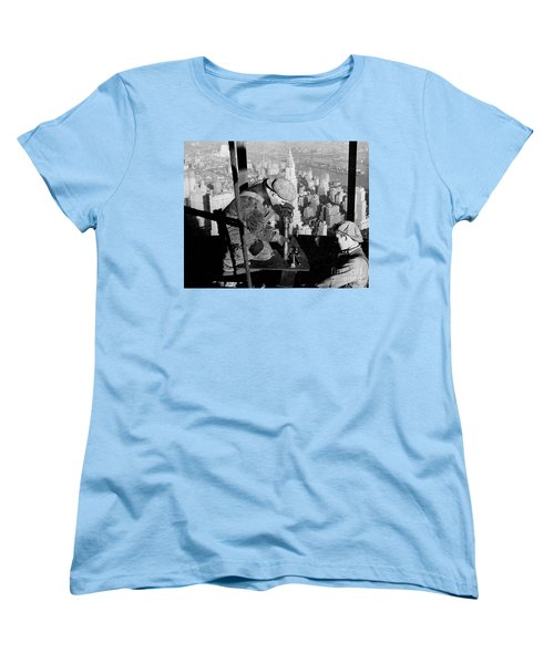 Riveters On The Empire State Building Women's T-Shirt (Standard Cut) by LW Hine