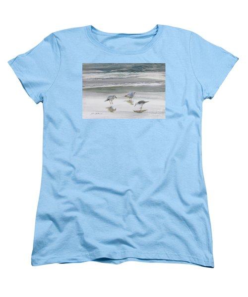 Sandpipers Women's T-Shirt (Standard Cut) by Julianne Felton