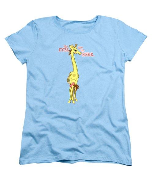 Sassy Giraffe Women's T-Shirt (Standard Cut) by J L Meadows