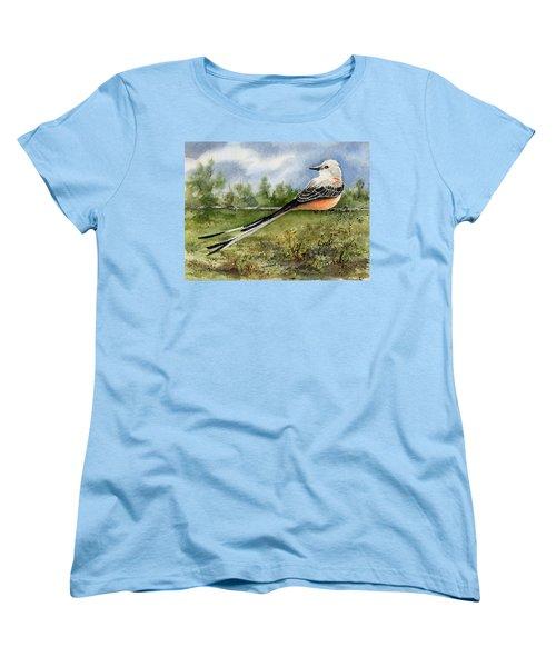 Scissor-tail Flycatcher Women's T-Shirt (Standard Cut) by Sam Sidders
