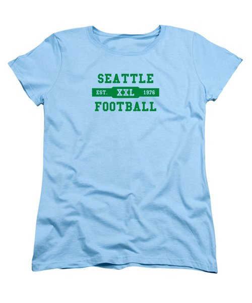 Seahawks Retro Shirt Women's T-Shirt (Standard Cut) by Joe Hamilton