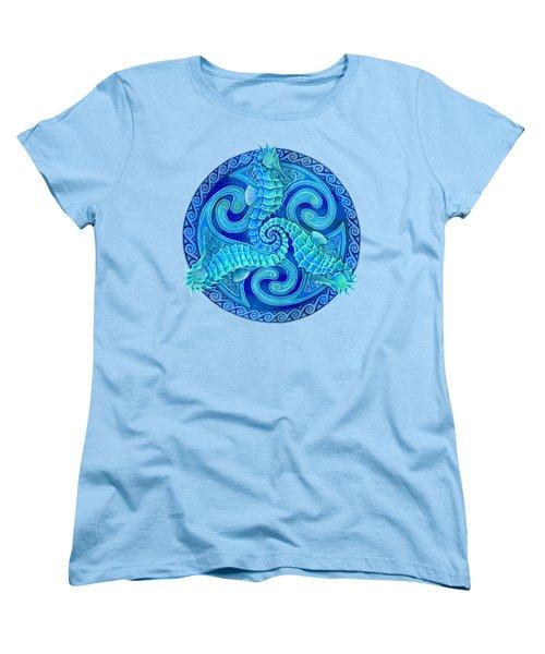 Seahorse Triskele Women's T-Shirt (Standard Cut) by Rebecca Wang