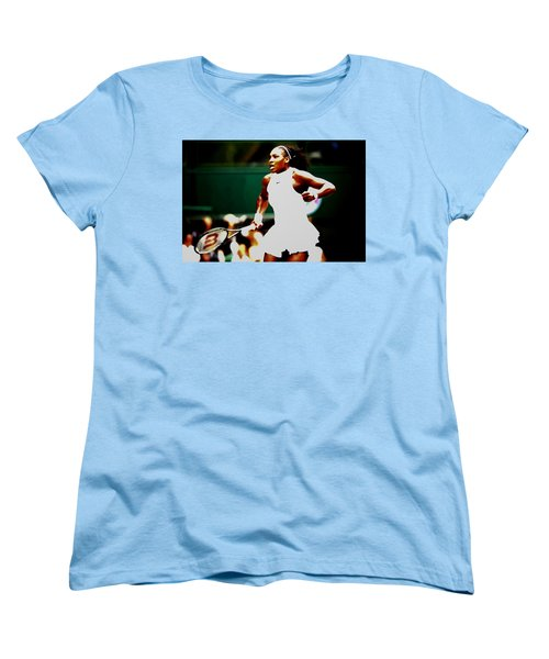 Serena Williams Making History Women's T-Shirt (Standard Cut) by Brian Reaves
