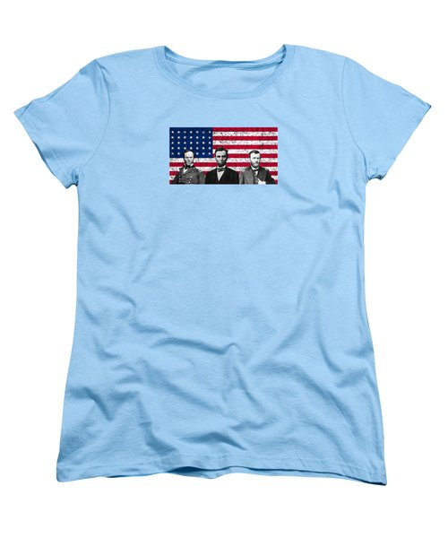 Sherman - Lincoln - Grant Women's T-Shirt (Standard Cut) by War Is Hell Store