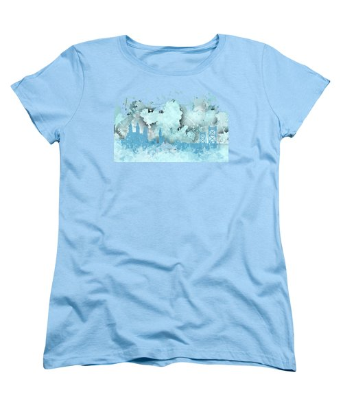 Smudge Philadelphia Skylines Women's T-Shirt (Standard Cut) by Alberto RuiZ