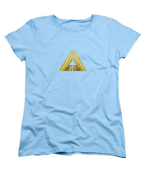 Split Triangle Green Women's T-Shirt (Standard Cut) by YoPedro