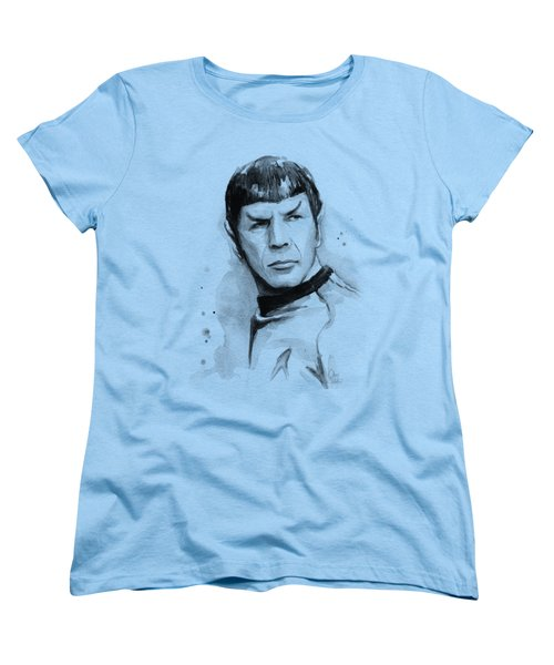 Spock Portrait Women's T-Shirt (Standard Cut) by Olga Shvartsur