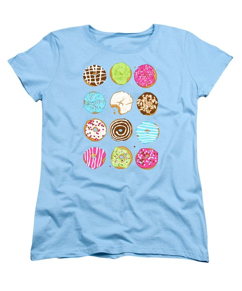 Sweet Donuts Women's T-Shirt (Standard Cut) by Evgenia Chuvardina