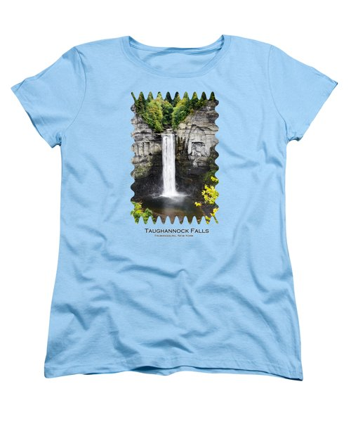 Taughannock Falls View From The Top Women's T-Shirt (Standard Cut) by Christina Rollo