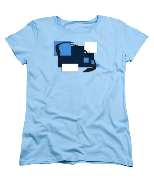 Tennessee Titans Abstract Shirt Women's T-Shirt (Standard Cut) by Joe Hamilton