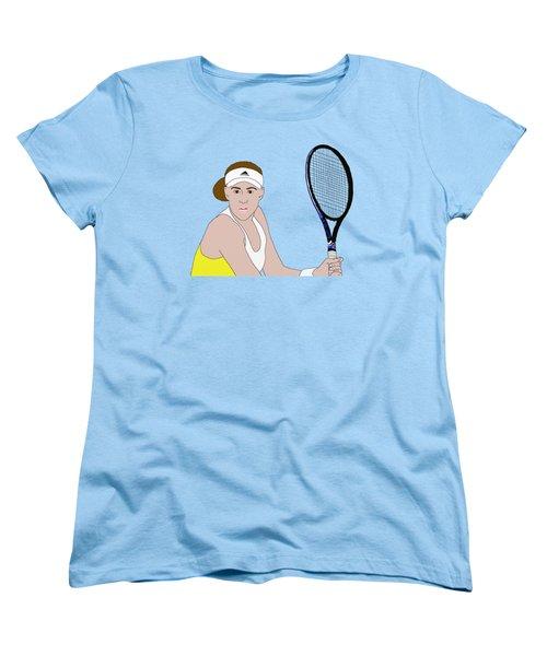 Tennis Player Women's T-Shirt (Standard Cut) by Priscilla Wolfe