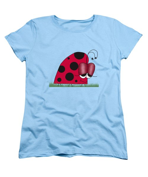 The Euphoric Ladybug Women's T-Shirt (Standard Cut) by Michelle Brenmark