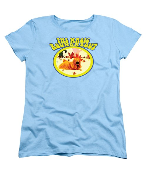 The Magic Roundabout Retro Design Hippy Design 60s And 70s Women's T-Shirt (Standard Cut) by Paul Telling