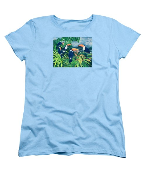 Toucan Talk Women's T-Shirt (Standard Cut) by Lisa Graa Jensen