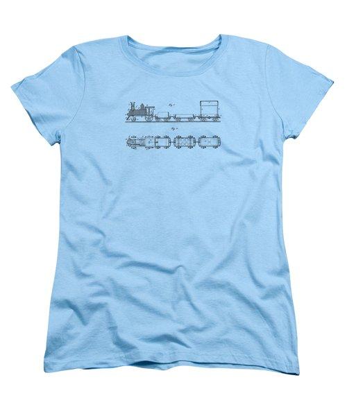 Toy Train Tee Women's T-Shirt (Standard Cut) by Edward Fielding