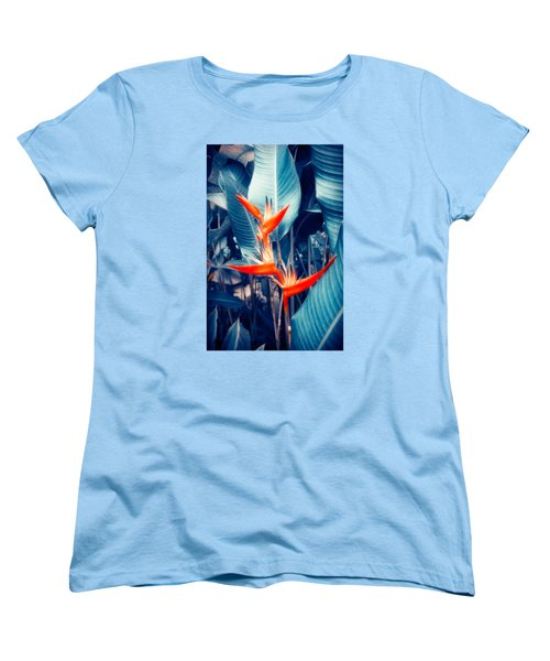 Tropical Parakeet Flower Women's T-Shirt (Standard Cut) by Konstantin Sevostyanov