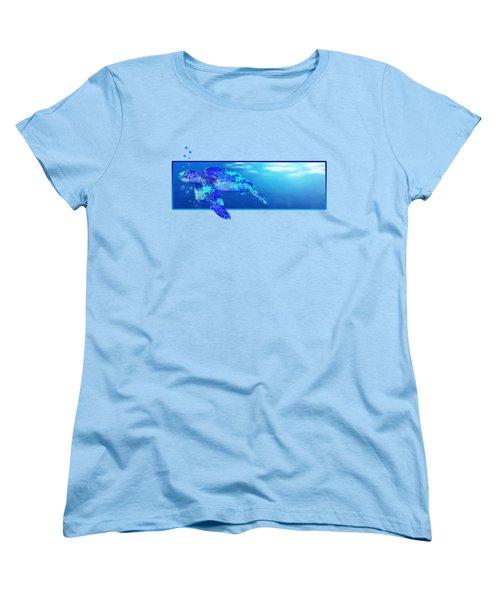 Underwater Sea Turtle Women's T-Shirt (Standard Cut) by Chris MacDonald