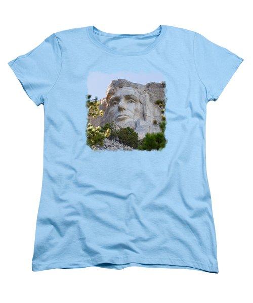 Unfinished Lincoln 3 Women's T-Shirt (Standard Cut) by John M Bailey