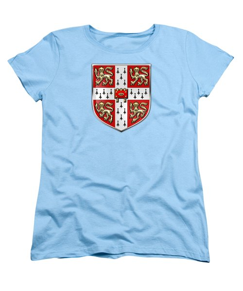 University Of Cambridge Seal - Coat Of Arms Over Colours Women's T-Shirt (Standard Cut) by Serge Averbukh