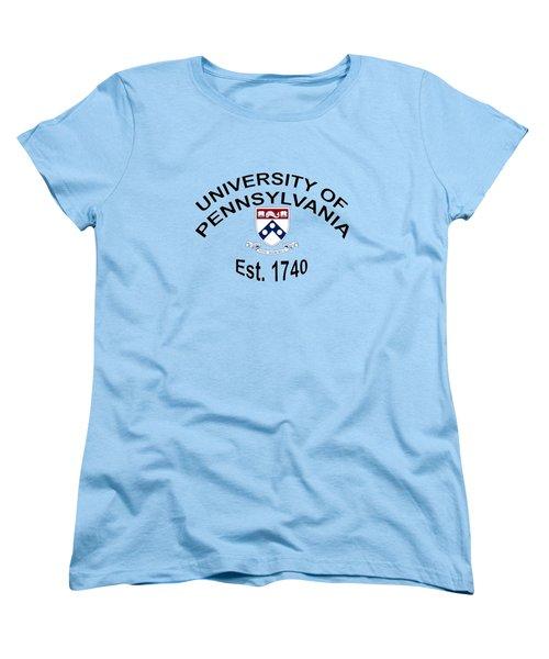 University Of Pennsylvania Est 1740 Women's T-Shirt (Standard Cut) by Movie Poster Prints