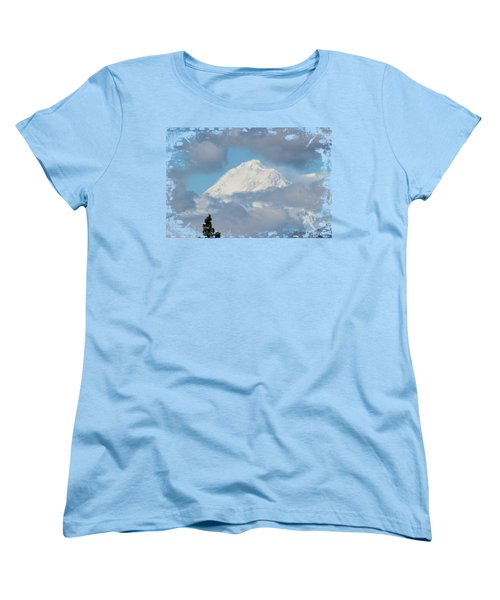 Up In The Clouds Women's T-Shirt (Standard Cut) by Di Designs