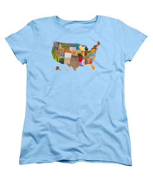 Vibrant Textures Of The United States Women's T-Shirt (Standard Cut) by Design Turnpike