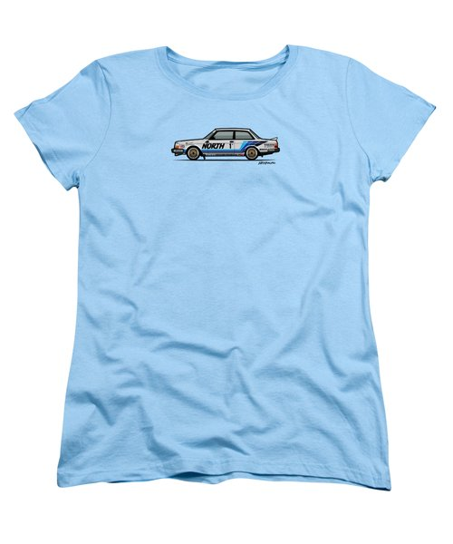 Volvo 240 242 Turbo Group A Homologation Race Car Women's T-Shirt (Standard Cut) by Monkey Crisis On Mars