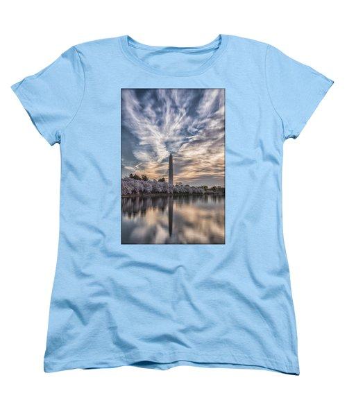 Washington Blossom Sunrise Women's T-Shirt (Standard Cut) by Erika Fawcett