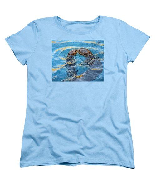 Water Kisses Women's T-Shirt (Standard Cut) by Jamie Pham