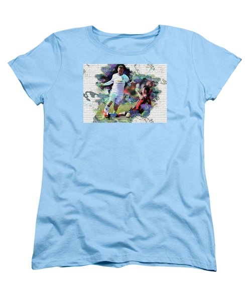 Wayne Rooney Street Art Women's T-Shirt (Standard Cut) by Don Kuing