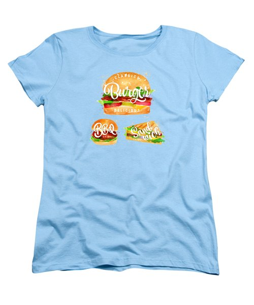 White Burger Women's T-Shirt (Standard Cut) by Aloke Design