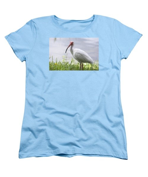 White Ibis  Women's T-Shirt (Standard Cut) by Saija  Lehtonen
