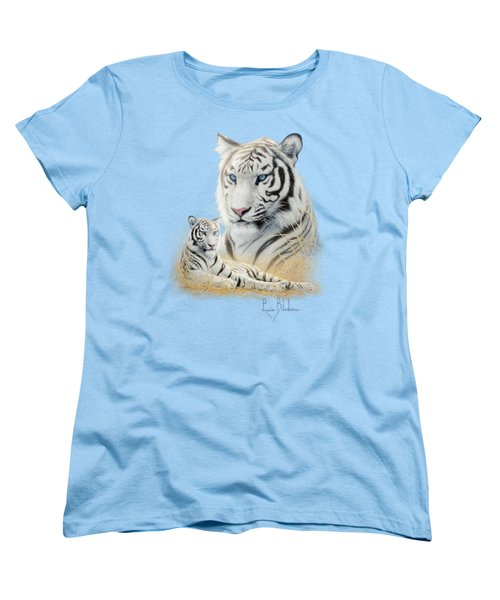 White Tiger Women's T-Shirt (Standard Cut) by Lucie Bilodeau