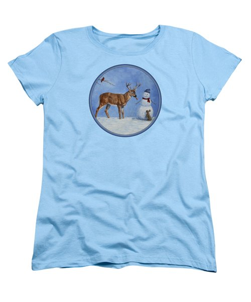Whose Carrot Seasons Greeting Women's T-Shirt (Standard Cut) by Crista Forest