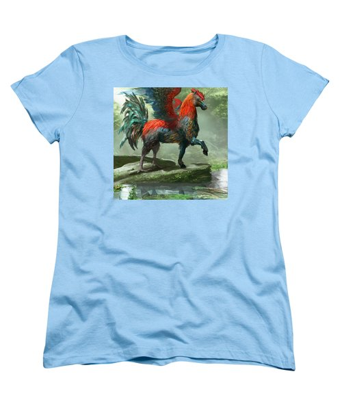 Wild Hippalektryon Women's T-Shirt (Standard Cut) by Ryan Barger
