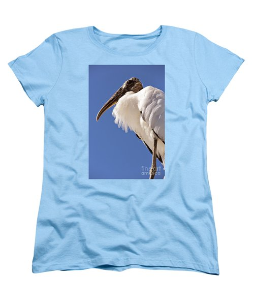 Wonderful Wood Stork Women's T-Shirt (Standard Cut) by Carol Groenen