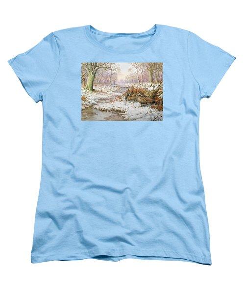 Woodcock Women's T-Shirt (Standard Cut) by Carl Donner