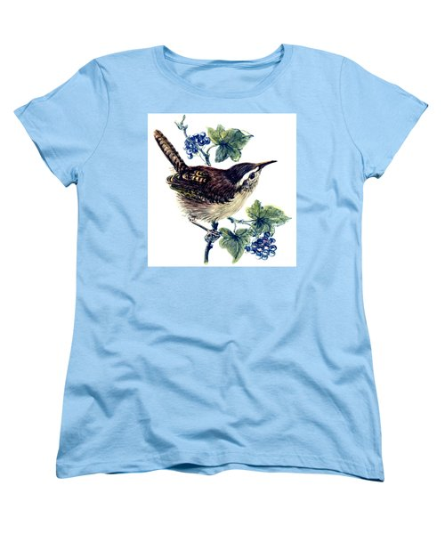 Wren In The Ivy Women's T-Shirt (Standard Cut) by Nell Hill