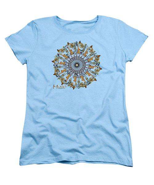 Zeerkl Of Music Women's T-Shirt (Standard Cut) by Edelberto Cabrera