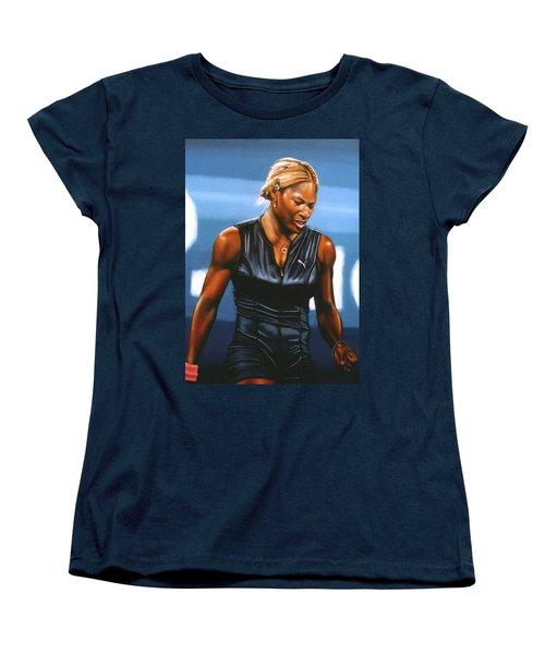 Serena Williams Women's T-Shirt (Standard Cut) by Paul Meijering