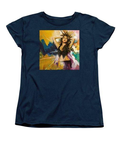 Shakira Women's T-Shirt (Standard Cut) by Corporate Art Task Force