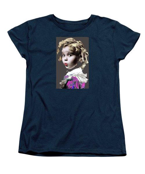 Shirley Temple Publicity Photo Circa 1935-2014 Women's T-Shirt (Standard Cut) by David Lee Guss