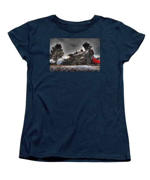 Women's T-Shirt (Standard Cut) featuring the photograph 1880 Train by Bill Gabbert