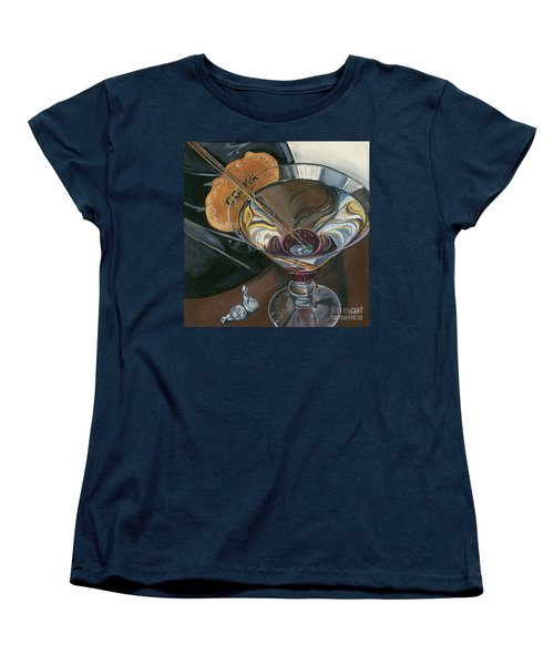 Chocolate Martini Women's T-Shirt (Standard Cut) by Debbie DeWitt
