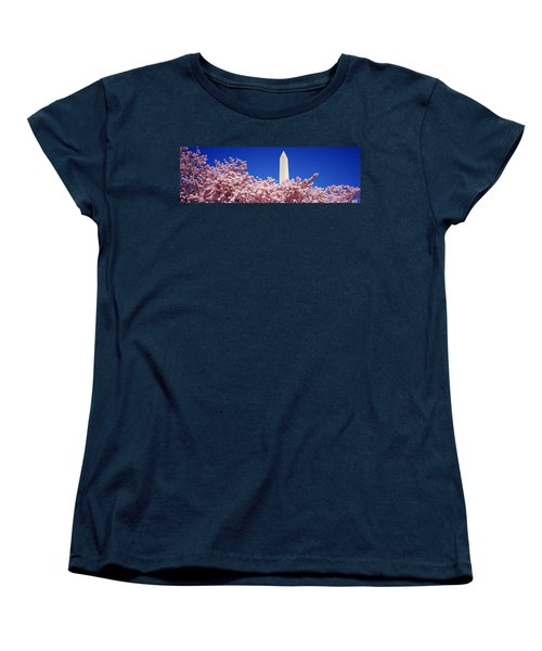 Washington Monument Washington Dc Women's T-Shirt (Standard Cut) by Panoramic Images
