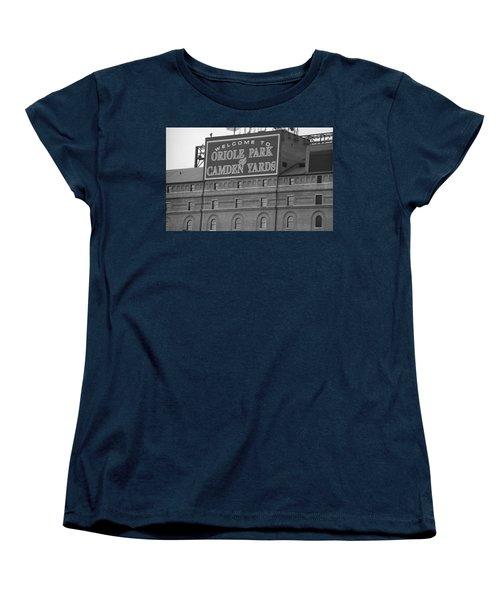 Baltimore Orioles Park At Camden Yards Women's T-Shirt (Standard Cut) by Frank Romeo